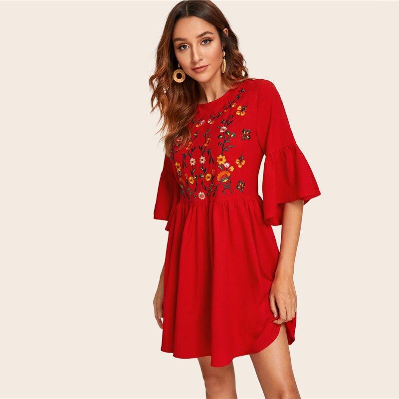 Women's Summer Embroidered Dress