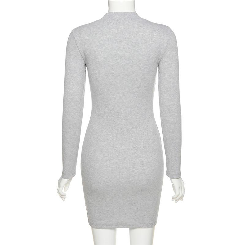 Women's Turtleneck Long Sleeved Dress